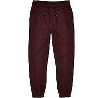Dark red jogger trousers