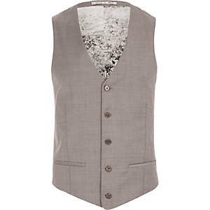 Purple wool-blend slim vest