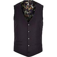 Purple statement lined waistcoat