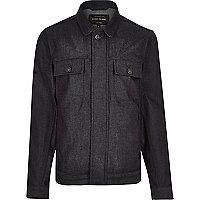 Dark blue smart denim jacket
