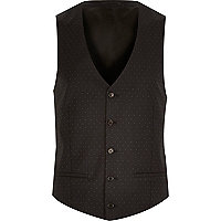 Black polka dot waistcoat
