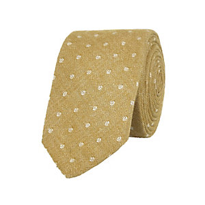 Yellow gold polka dot tie