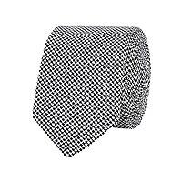 Black dogtooth print tie