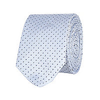 Blue dot texture tie