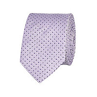 Purple dot texture tie