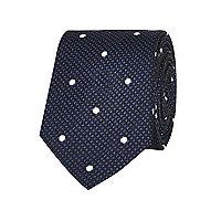 Black texture spot tie