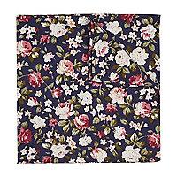 Navy floral print handkerchief