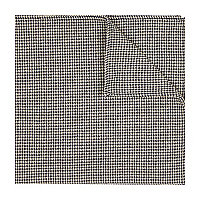 Black and white dogtooth pocket square