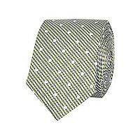 Green twill spot tie