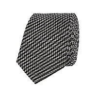 Black diagonal stripe tie