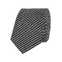 Black diagonal stripe tie