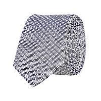 Grey grid texture tie