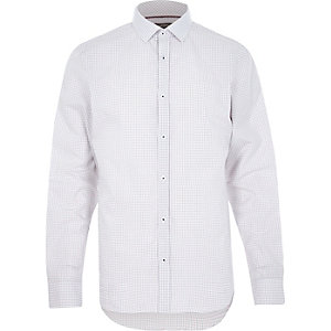White micro gingham shirt