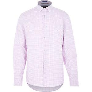 Pink gingham long sleeve shirt