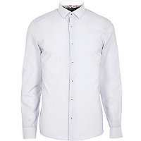 White subtle stripe shirt