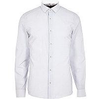 White subtle stripe shirt