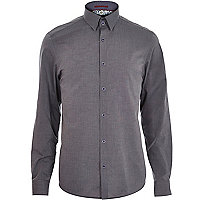 Grey light and dark long sleeve shirt