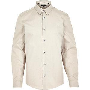 Ecru long sleeve shirt