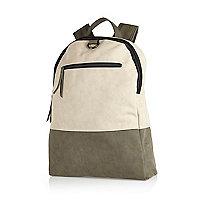 Grey simple block backpack