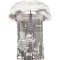 Grey the big city print t-shirt