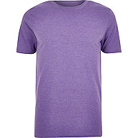 Purple crew neck t-shirt