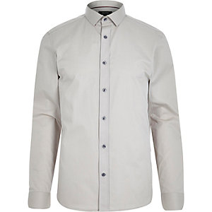 Ecru long sleeve shirt