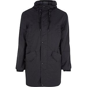 Black Bellfield rain proof hooded parka coat