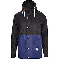 Navy Bellfield split colour fisherman jacket