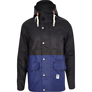 Navy Bellfield rain proof fisherman jacket