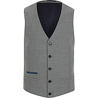 Grey single breasted waistcoat
