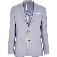 Light blue linen slim blazer