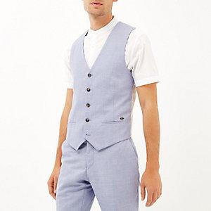 Blue paisley lined waistcoatend