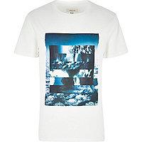 White cloud print t-shirt