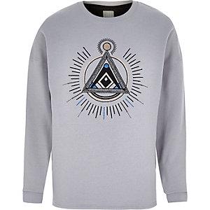 Grey RI Studio applique sweatshirt