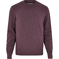 Red marl crew neck sweatshirt