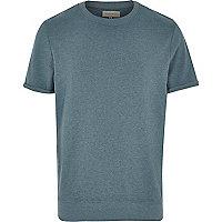 Turquoise marl short sleeve sweatshirt