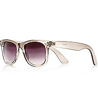 Grey crystal retro sunglasses
