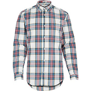 Ecru tartan check shirt
