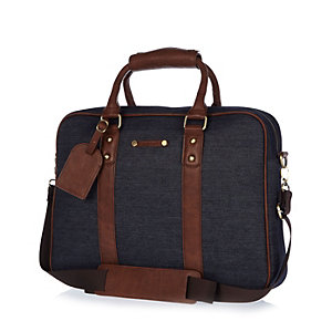 Navy denim work bag