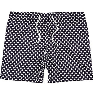 Navy cross print shorts