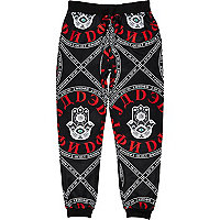 Black Jaded evil eye print joggers