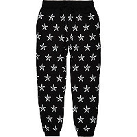 Black Jaded star print joggers