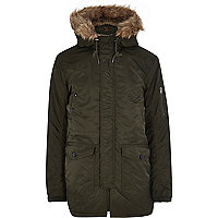 Green Jack & Jones Vintage parka coat