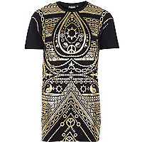 Black Jaded ying yang print t-shirt