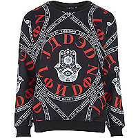 Black Jaded hand evil eye sweatshirt
