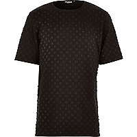 Black Jaded stud embossed t-shirt