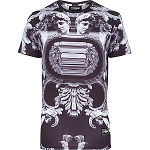 Black Jaded Roman print t-shirt