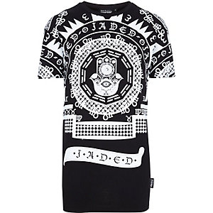 Black Jaded script print t-shirt
