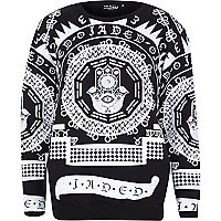 Black Jaded evil eye script print sweatshirt