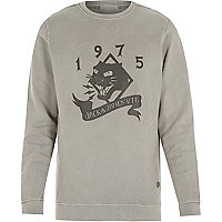 Grey Jack & Jones Vintage printed sweatshirt